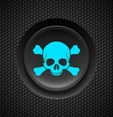 Skull and crossbones button — Vector de stock
