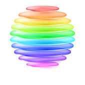 Abstract colorful sphere — Stock Vector