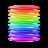 Abstract colorful cylinder — Vector de stock
