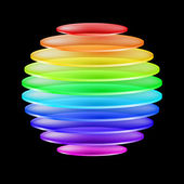 Abstract colorful sphere — Wektor stockowy