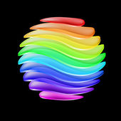 Abstract colorful sphere — Vector de stock
