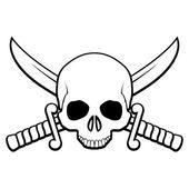 Pirate symbol — Stock Vector