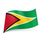 State flag of Guyana — Stock Vector