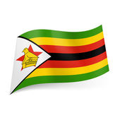 State flag of Zimbabwe — Stock Vector