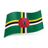 State flag of Dominica — Stockvektor