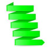 Green paper arrow — Stock Vector