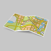 Map booklet — Stock Vector