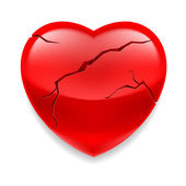 Cracked heart  — Stock Vector