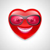 Carattere di cuore — Vettoriale Stock