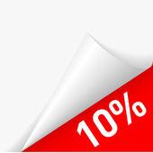 Paper corner discount — Stock Vector