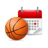 Basketball and calendar — Stock Vector