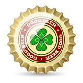 Beer cap — Stock Vector