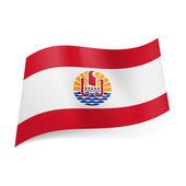 Flag of French Polynesia — Stock Vector