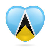 Heart icon of Saint Lucia — Stock Vector