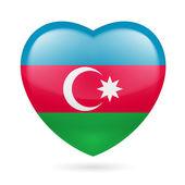 Azerbaijanian flag colors — Vetor de Stock