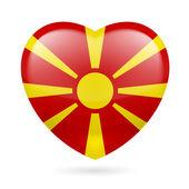 Heart icon of Macedonia — Stock Vector