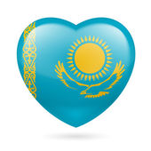Heart icon of Kazakhstan — Stock Vector