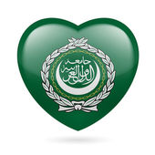 Heart icon of Arab League — Stock Vector