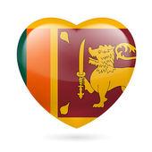 Heart icon of Sri Lanka — Stock Vector