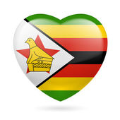 Heart icon of Zimbabwe — Stock Vector