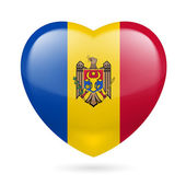 Heart icon of Moldova — Stock Vector