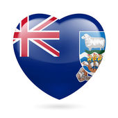 Heart icon of Falkland Islands — Stock Vector