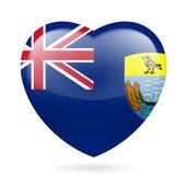 Heart icon of Saint Helena, Ascension and Tristan da Cunha — Stock Vector