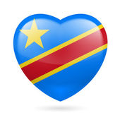 Heart icon of Democratic Republic of Congo — Stock Vector