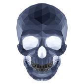 Dark crystal skull — Stock Vector
