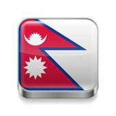 Kovové ikona z nepálu — Stock vektor
