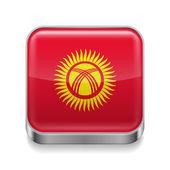 Metal  icon of Kyrgyzstan — Stock Vector