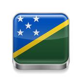 Metal  icon of Solomon Islands — Stock Vector
