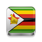 Metal  icon of Zimbabwe — Stock Vector