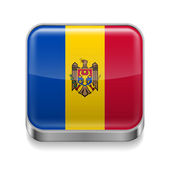 Metal  icon of Moldova — Stock Vector