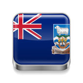 Metal  icon of Falkland Islands — Stock Vector