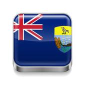 Metal  icon of Saint Helena, Ascension and Tristan da Cunha — Stock Vector