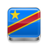Metal  icon of Democratic Republic of the Congo — Stock Vector