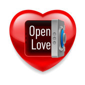 Open  Love image — Stock Vector