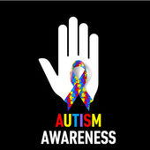 Autism Awareness sign — Stockvektor