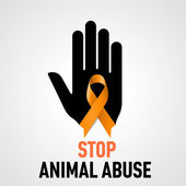 Stop Animal Abuse sign — Stock Vector