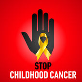 Stop Childhood Cancer sign — Stock Vector