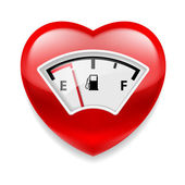 Heart with fuel indicator — Stock Vector