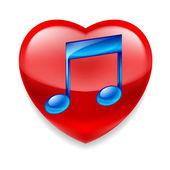 Favorite music icon — Stock Vector