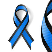 Blue and black ribbon — Stock Vector
