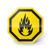 非常に可燃性の記号 — ストックベクタ