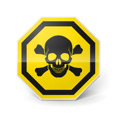 Sign with skull and crossed bones — Stock Vector