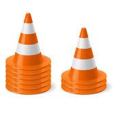 Piles of road cones — Stock Vector