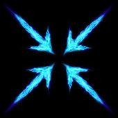 Fire arrows — Stock Vector