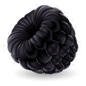 Beyaz zemin üzerinde blackberry — Stok Vektör
