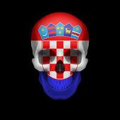 Croatian flag skull — Stock Vector